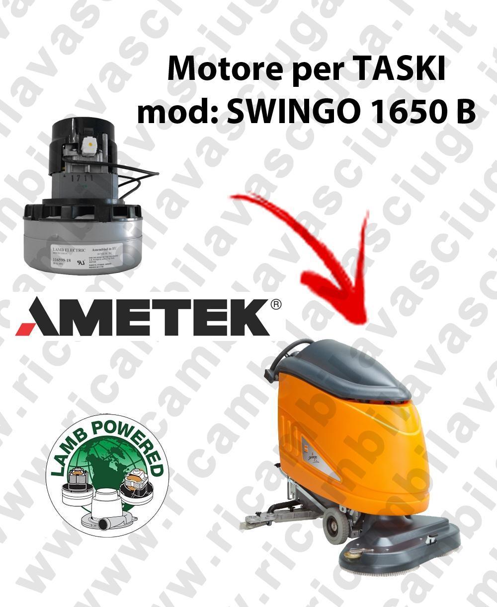 SWINGO 1650 B LAMB AMETEK vacuum motor for scrubber dryer TASKI