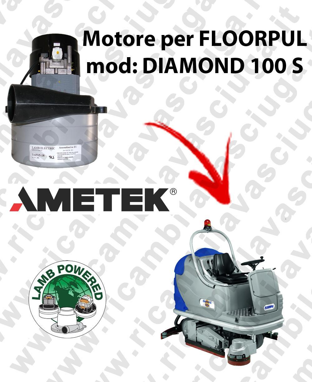 DIAMOND 100 S LAMB AMETEK vacuum motor for scrubber dryer FLOORPUL
