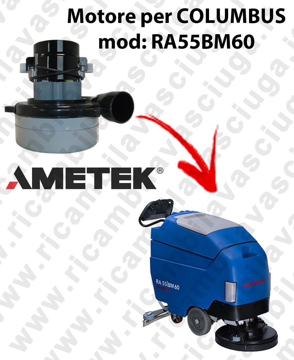RA55BM60 LAMB AMETEK vacuum motor for scrubber dryer COLUMBUS