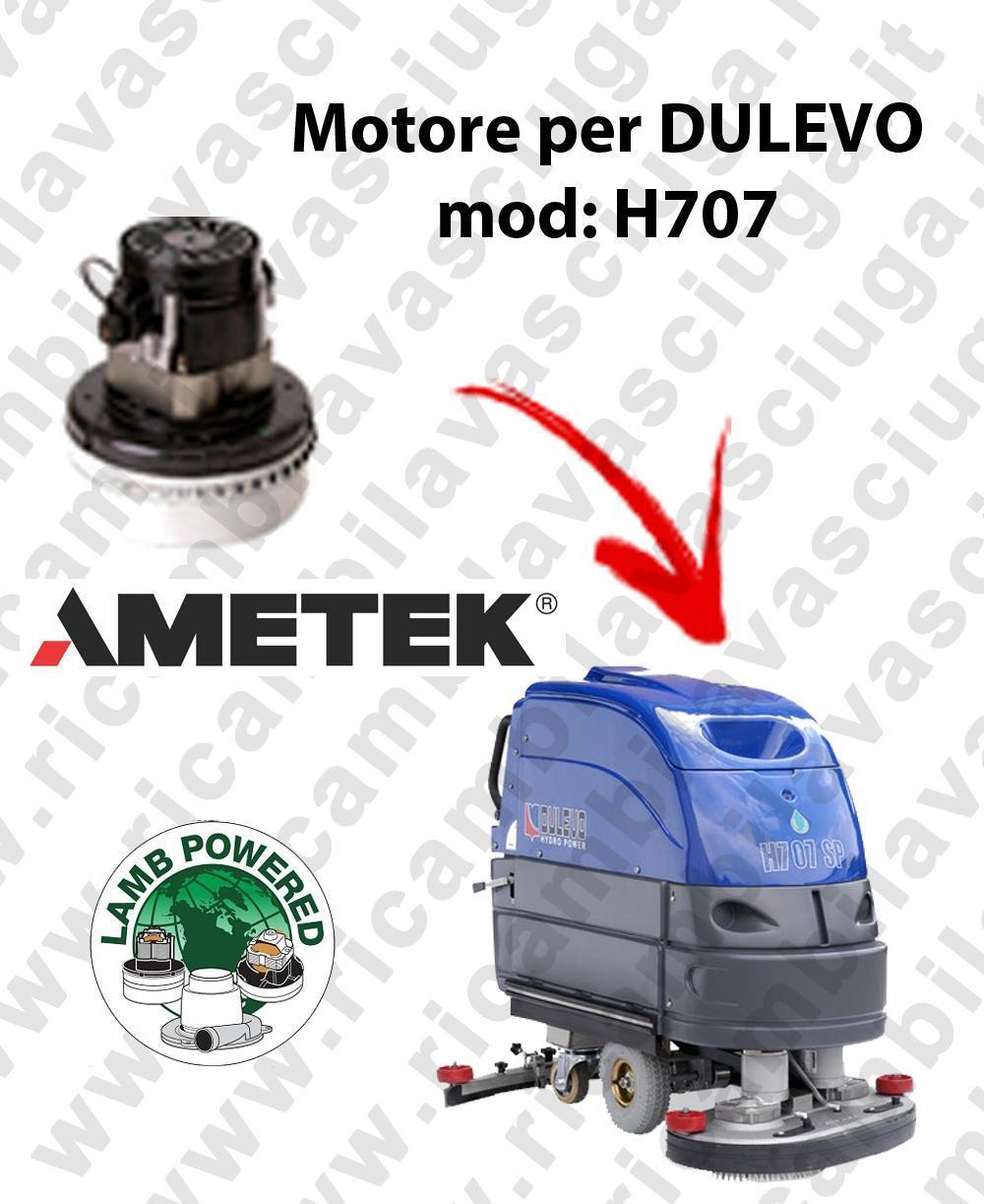 H707 LAMB AMETEK vacuum motor for scrubber dryer DULEVO