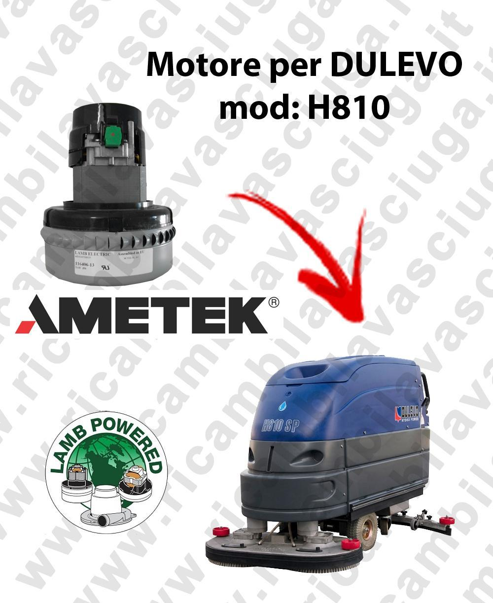H810 LAMB AMETEK vacuum motor for scrubber dryer DULEVO