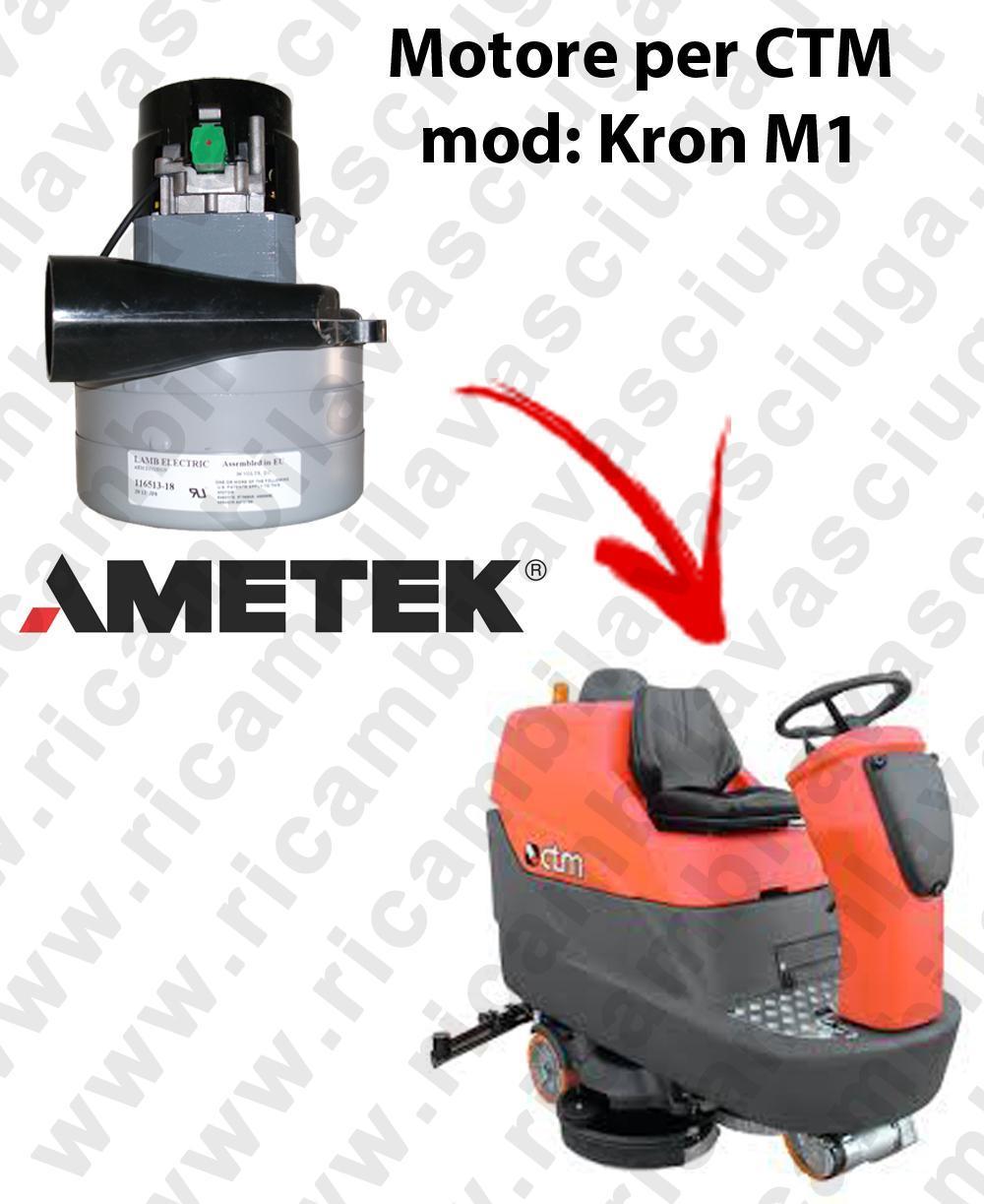 KRON M1 LAMB AMETEK vacuum motor for scrubber dryer CTM