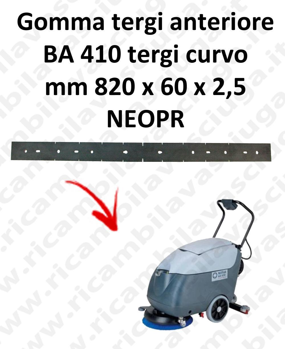 BA 410 Front Squeegee rubber for squeegee curved Nilfisk