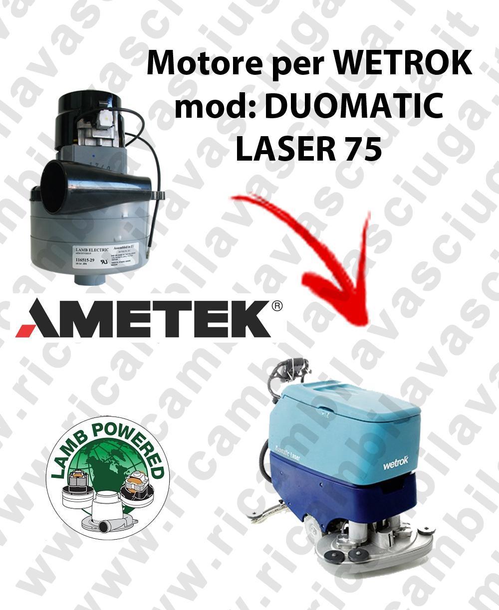 DUOMATIC LASER 75 LAMB AMETEK vacuum motor for scrubber dryer WETROK
