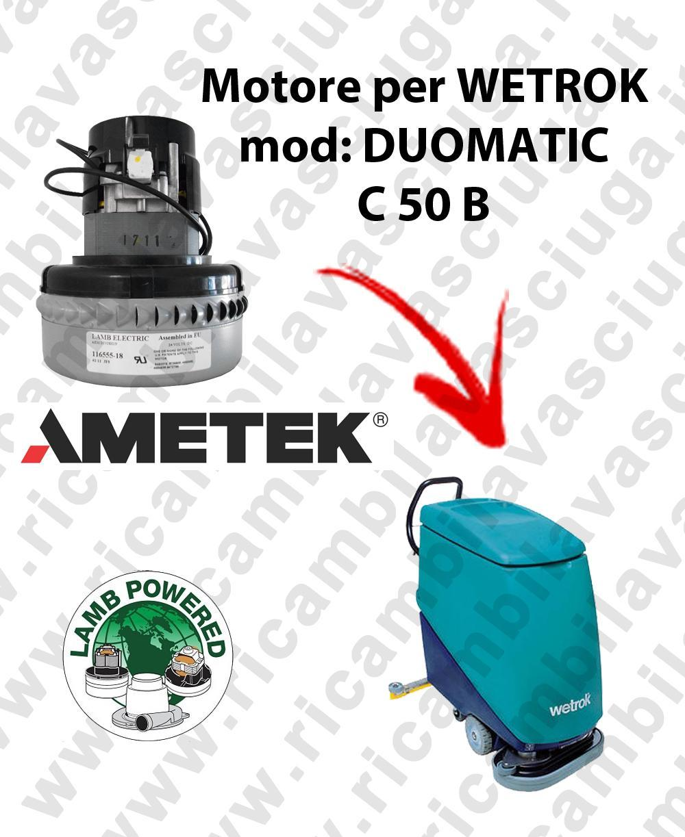 DUOMATIC C 50 B LAMB AMETEK vacuum motor for scrubber dryer WETROK