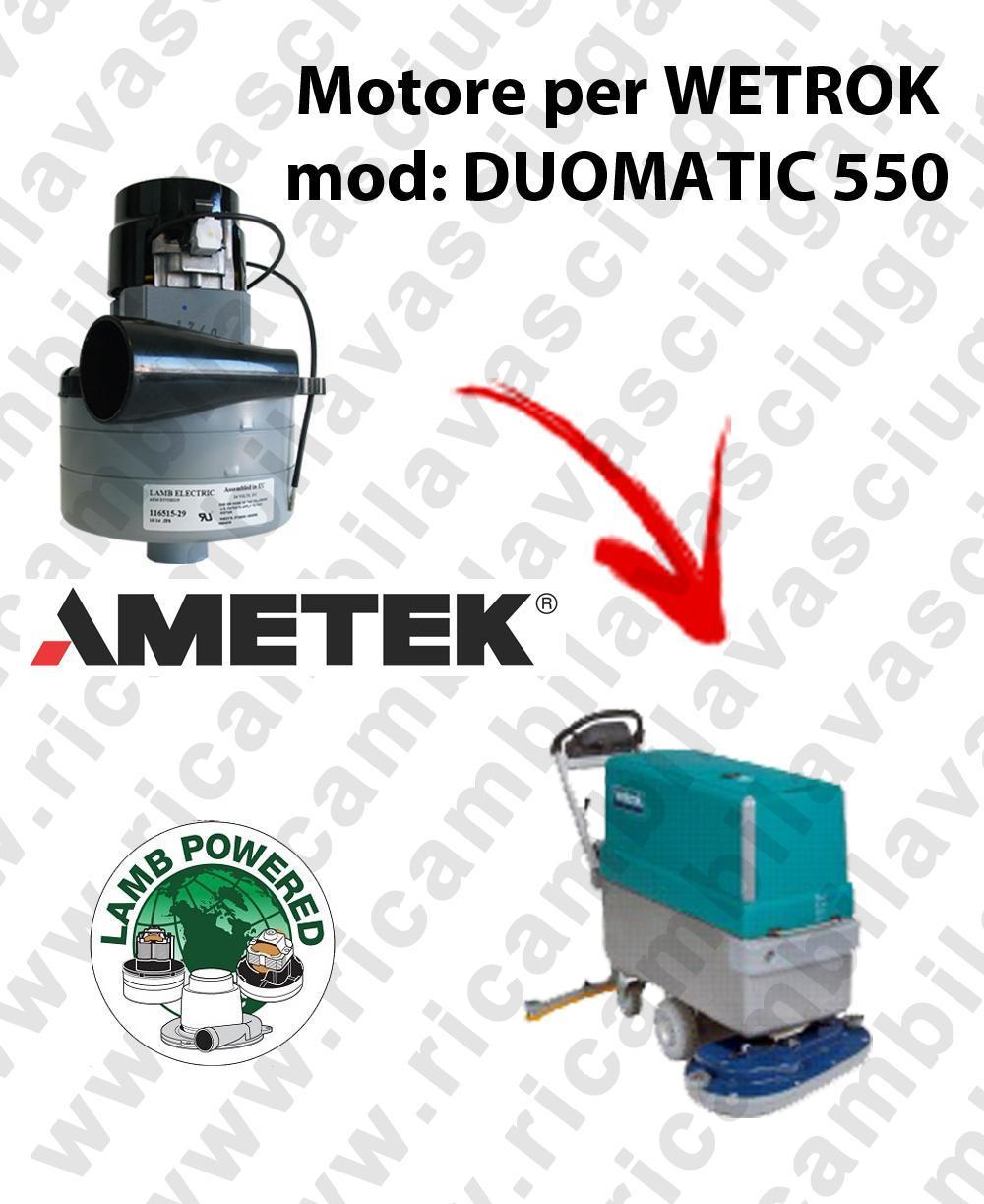 DUOMATIC 550 LAMB AMETEK vacuum motor for scrubber dryer WETROK