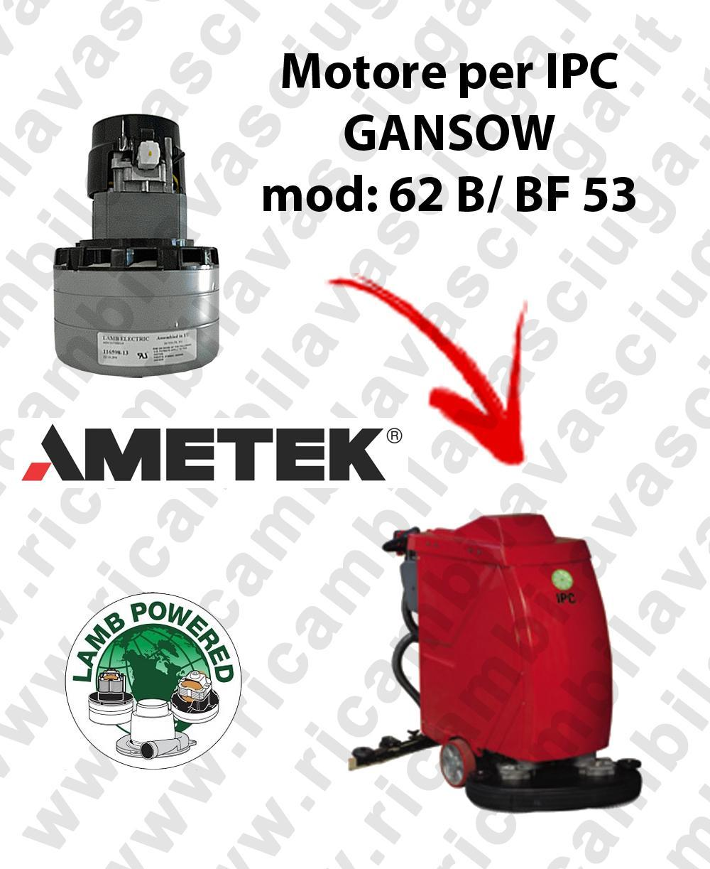 62 B/BF 53 LAMB AMETEK vacuum motor for scrubber dryer IPC GANSOW