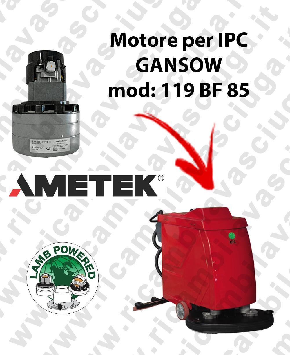 119 BF 85 LAMB AMETEK vacuum motor for scrubber dryer IPC GANSOW