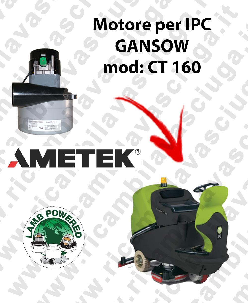 CT 160 LAMB AMETEK vacuum motor for scrubber dryer IPC GANSOW