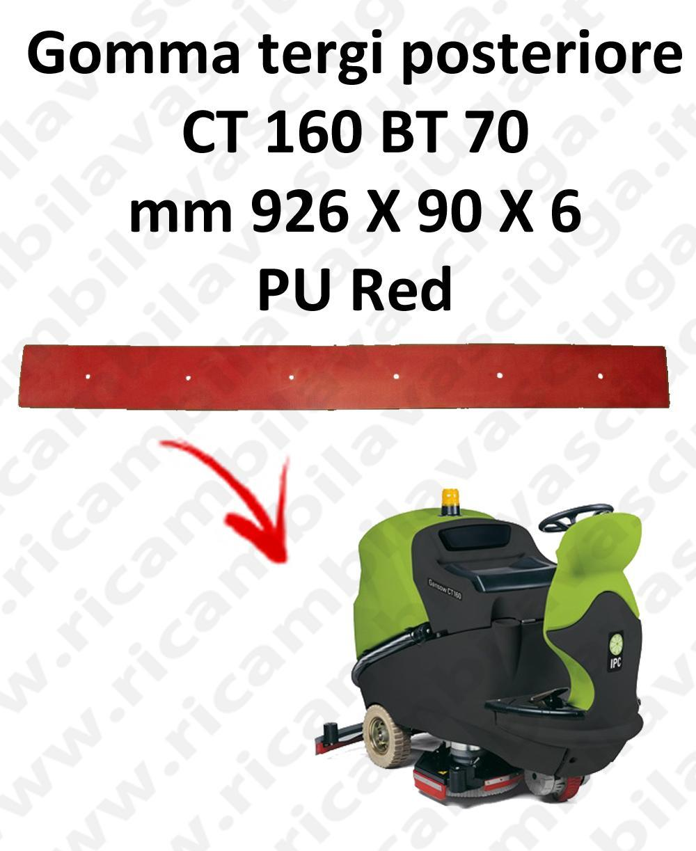 CT 160 BT 70 Back Squeegee rubber for squeegee IPC