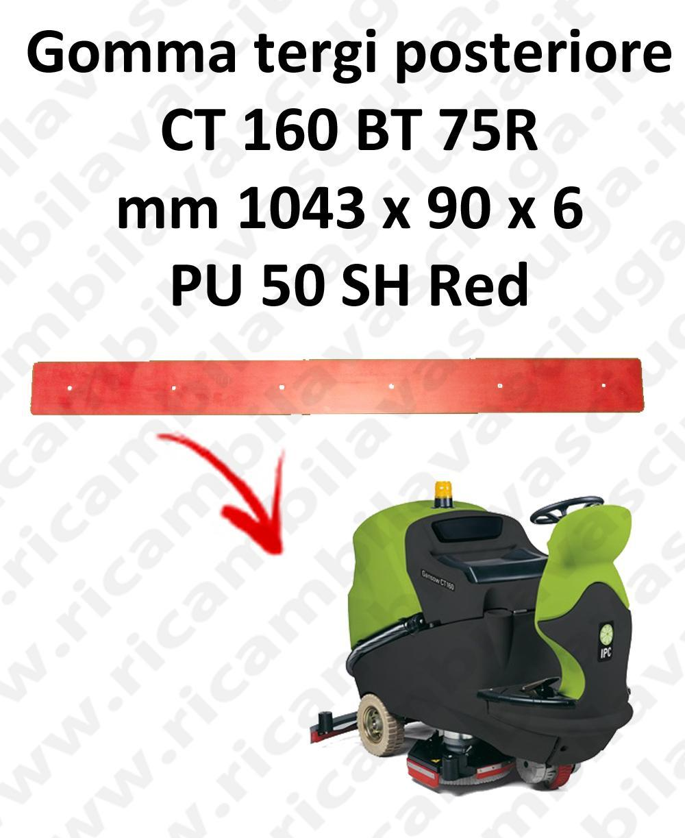 CT 160 BT 75R Back Squeegee rubber for squeegee IPC