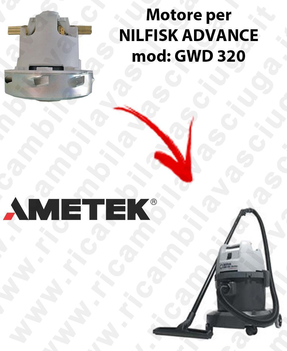 GWD 320 AMETEK Vacuum motor for vacuum cleaner NILFISK ADVANCE