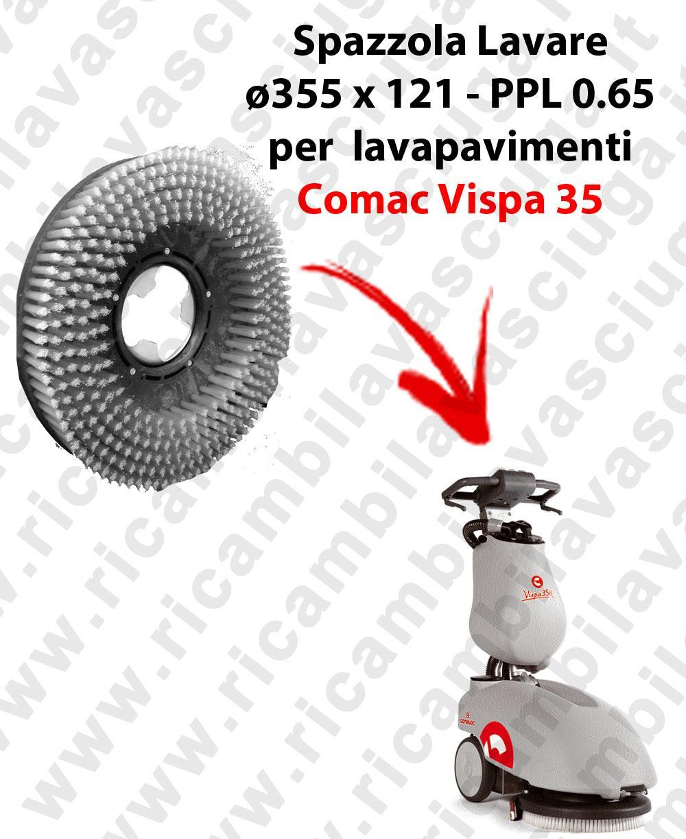 Cleaning Brush for scrubber dryer COMAC VISPA 35. Model: PPL 0.65  ⌀355 X 121