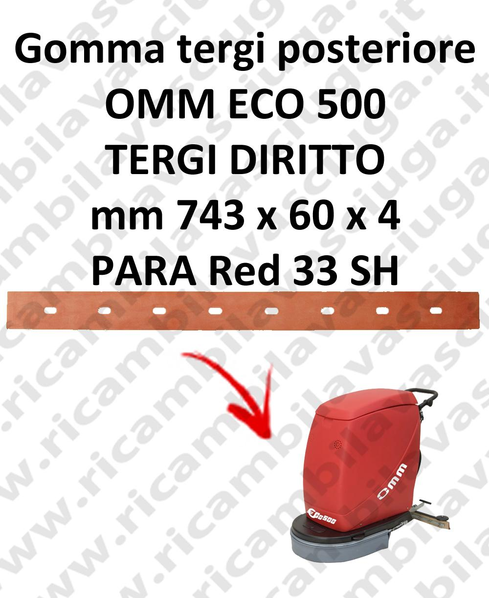 ECO 500 Back Squeegee rubber for squeegee straight OMM