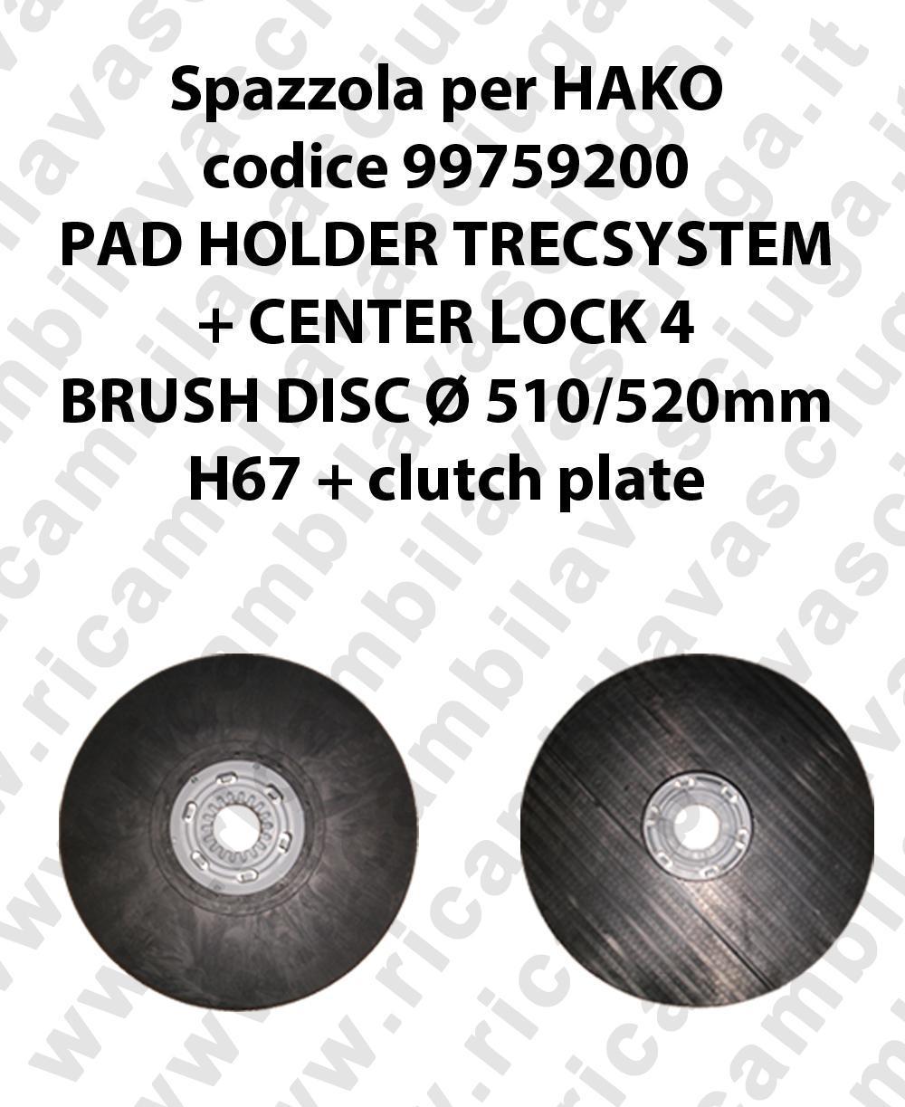 PAD HOLDER TRECSYSTEM  for scrubber dryer HAKO Code 99759200