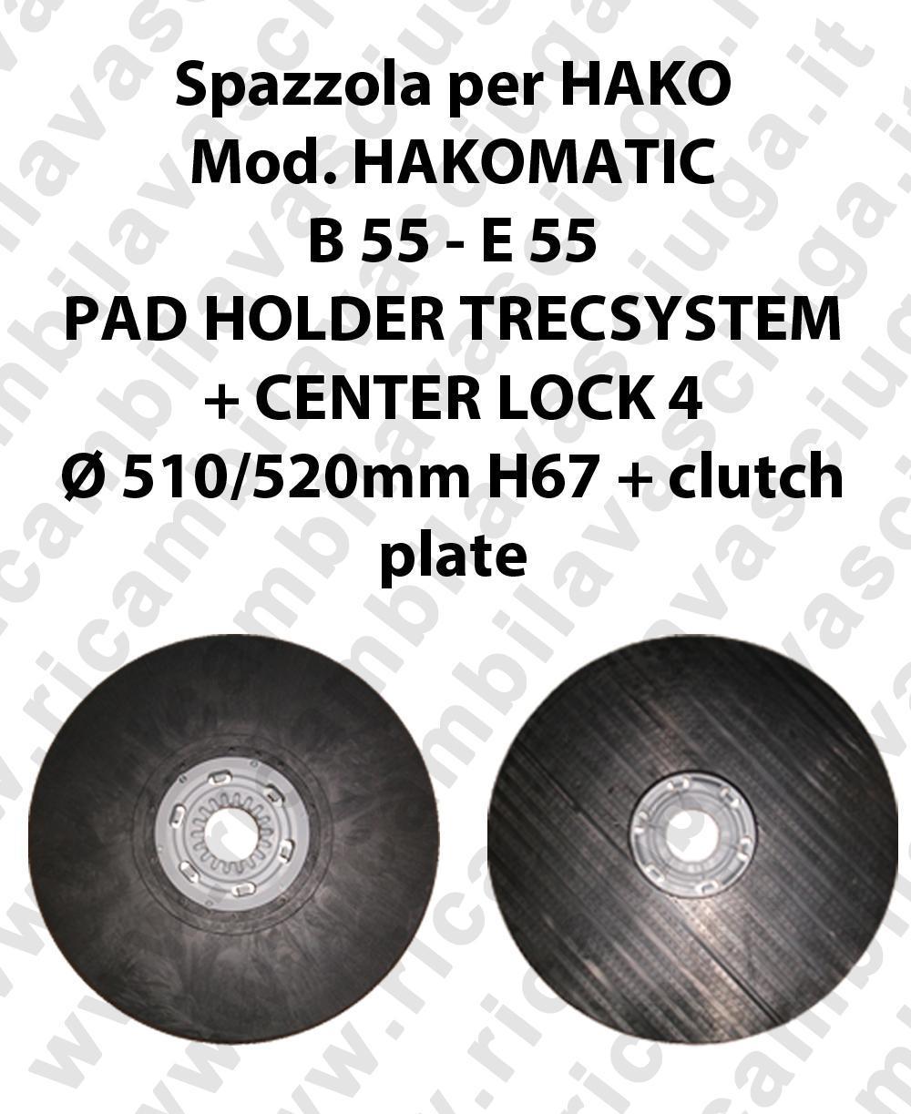 PAD HOLDER TRECSYSTEM  for scrubber dryer HAKO Model HAKOMATIC B 55 - E 55