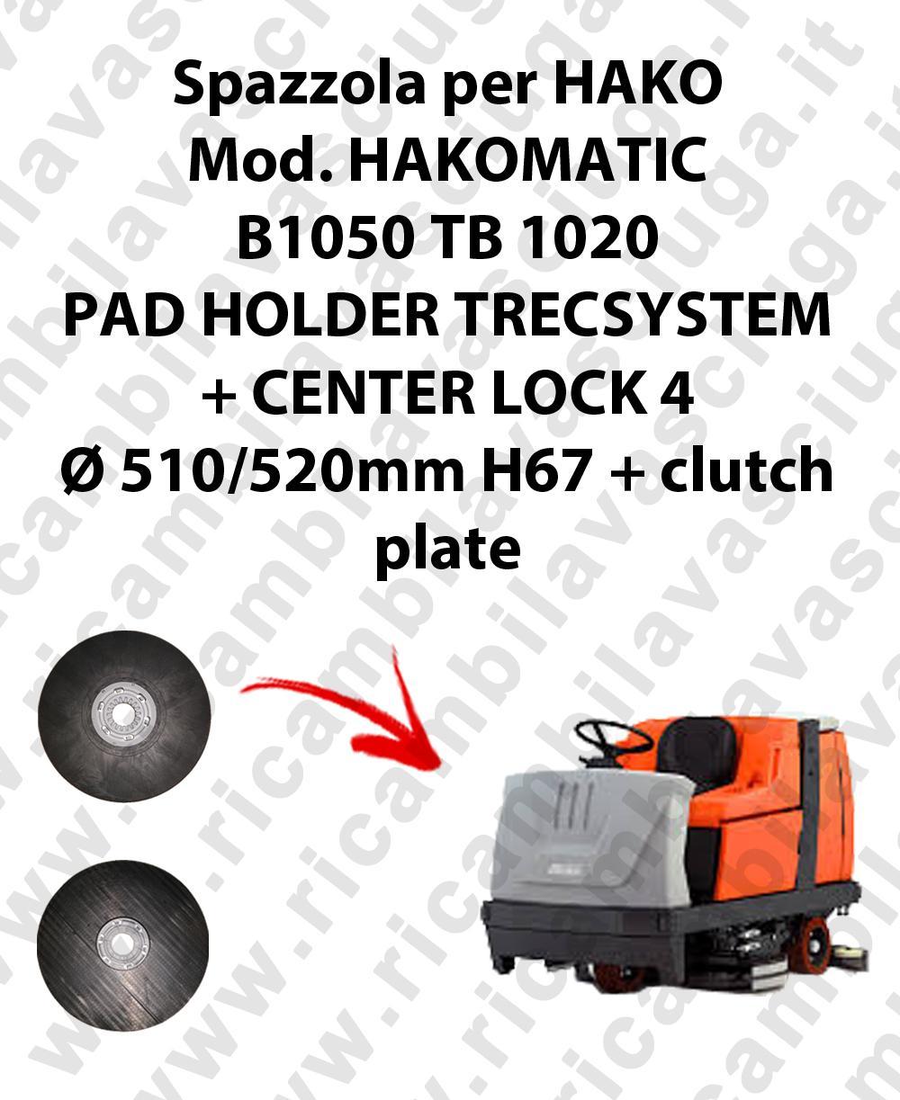 PAD HOLDER TRECSYSTEM  for scrubber dryer HAKO Model HAKOMATIC B1050 TB 1020