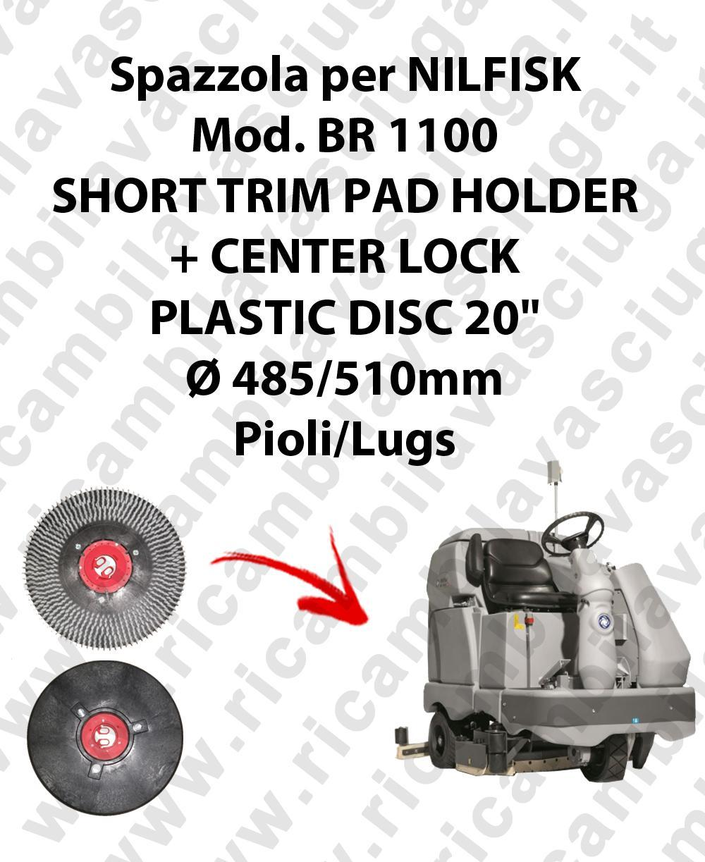 SHORT TRIM PAD HOLDER + CENTERLOCK for scrubber dryer NILFISK mod. BR 1100