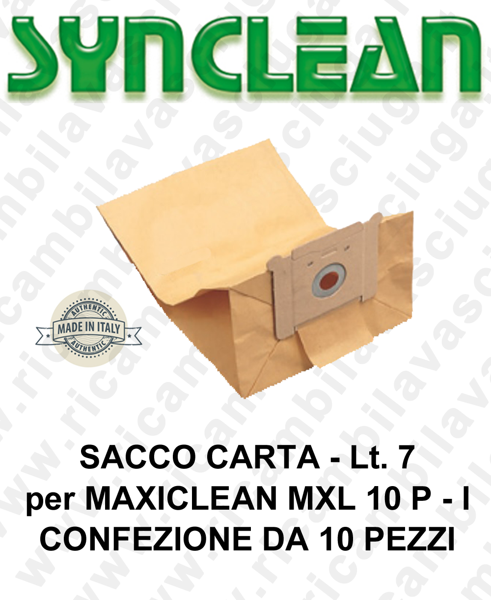 Sacco carta litres 7 for MAXICLEAN mod. MXL 10 P - I 10 pieces for box