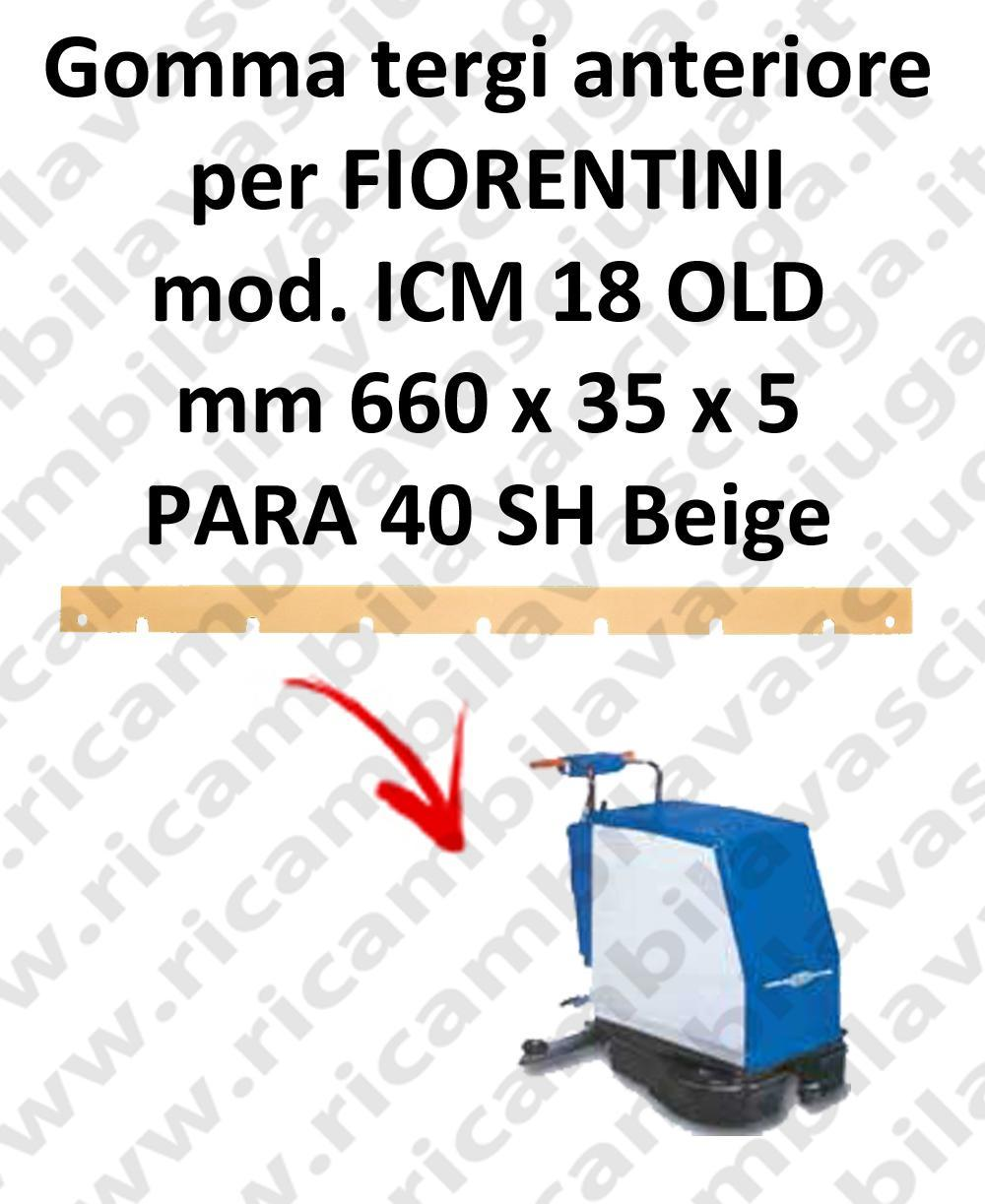ICM 18 OLD Front Squeegee rubberfor FIORENTINI squeegee