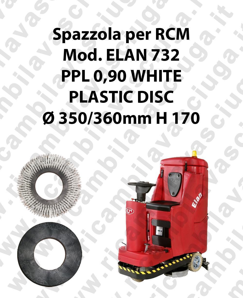 Cleaning Brush PPL 0.6 WHITE for scrubber dryer RCM Model ELAN 732
