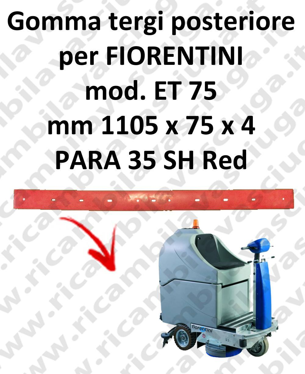 ET 75 Back Squeegee rubberfor FIORENTINI squeegee