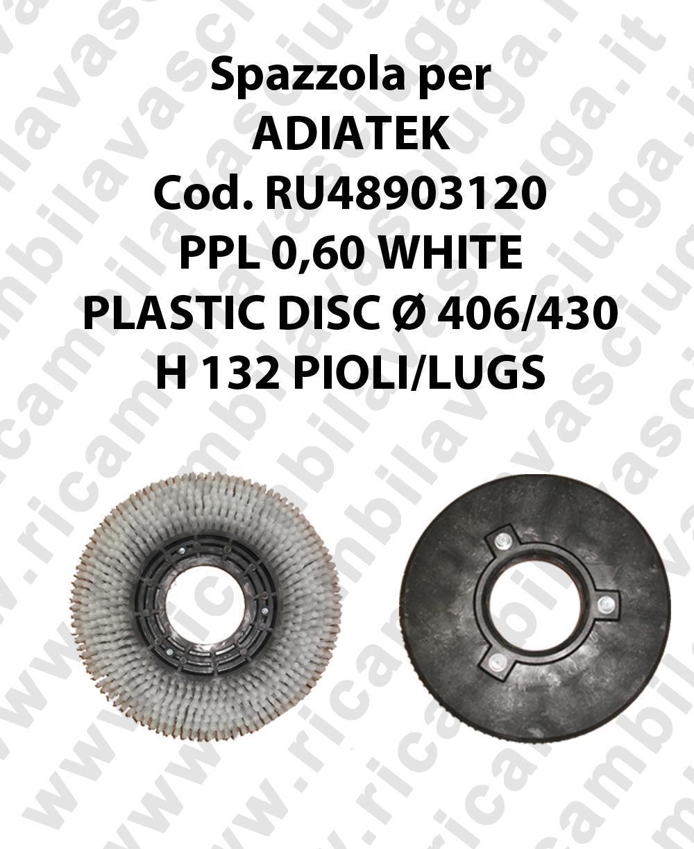 Cleaning Brush PPL 0,60 WHITE for scrubber dryer ADIATEK Code RU48903120