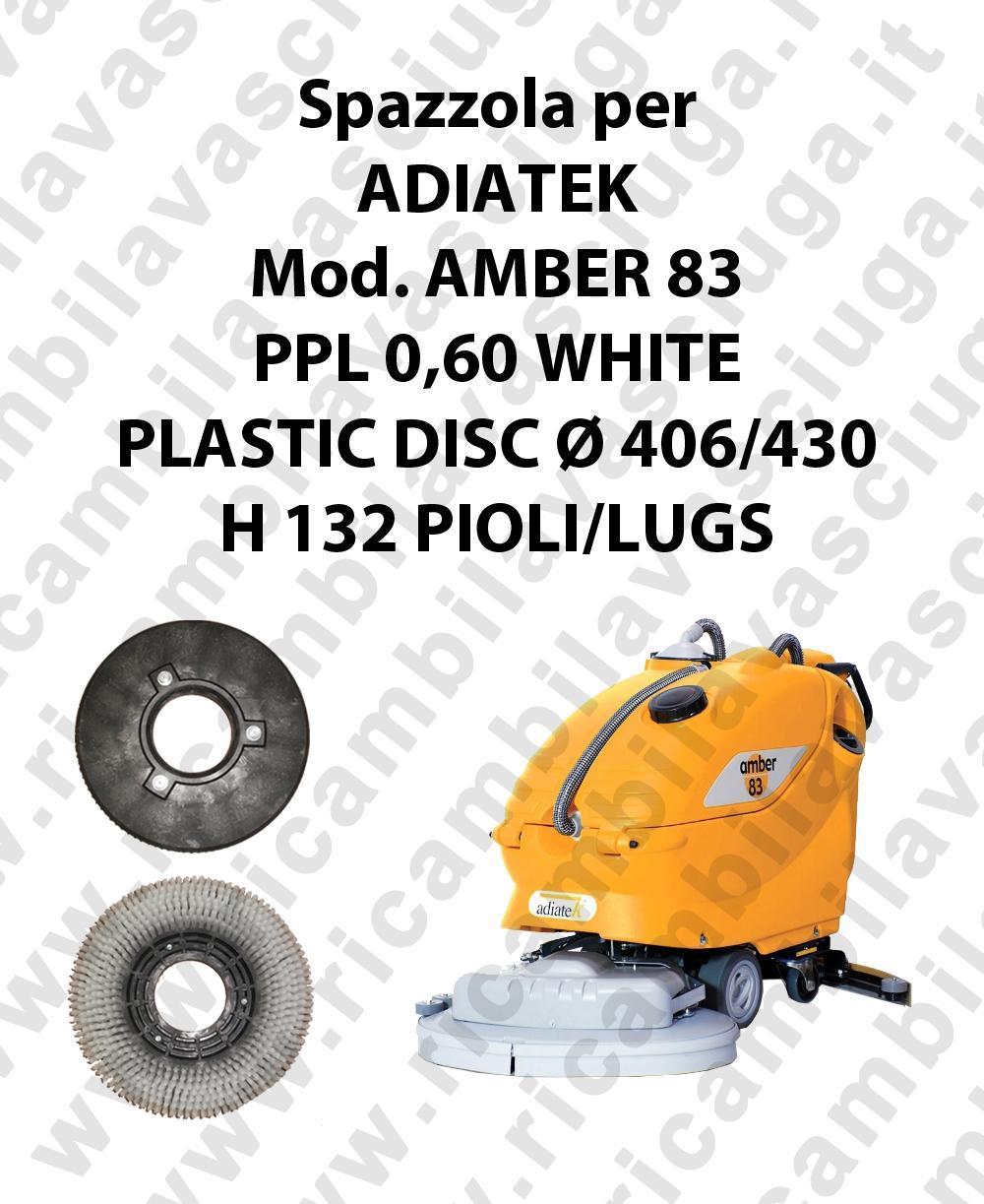 Cleaning Brush PPL 0,60 WHITE for scrubber dryer ADIATEK Model AMBER 83
