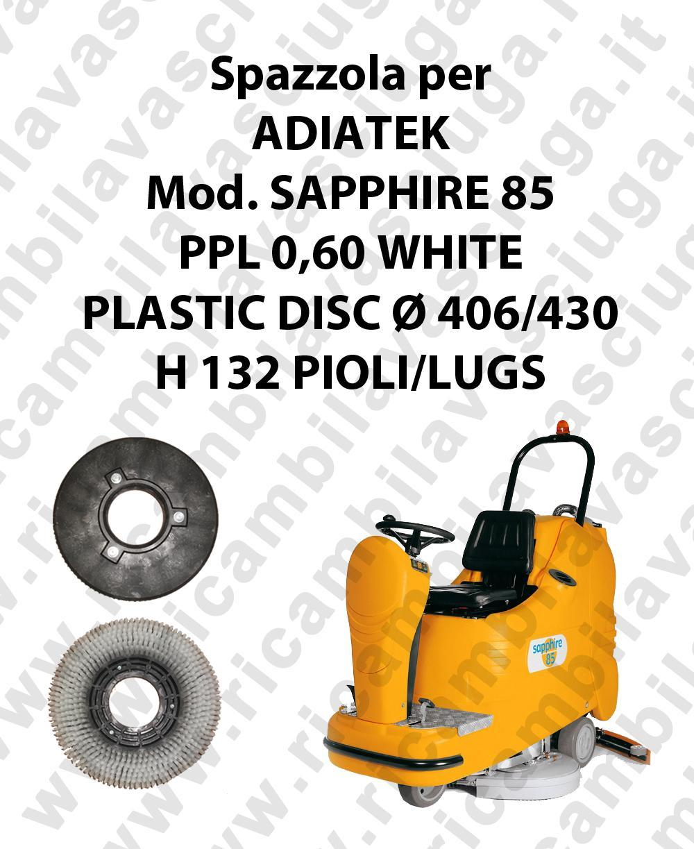 Cleaning Brush PPL 0,60 WHITE for scrubber dryer ADIATEK Model SAPPHIRE 85