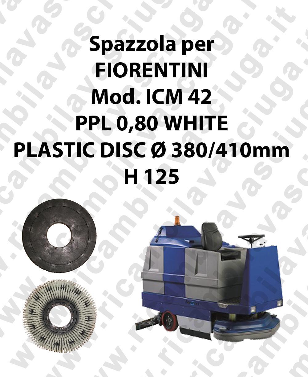 Cleaning Brush PPL 0,80 WHITE for scrubber dryer FIORENTINI Model ICM 42