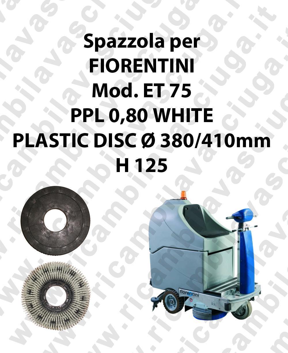Cleaning Brush PPL 0,80 WHITE for scrubber dryer FIORENTINI Model ET 75