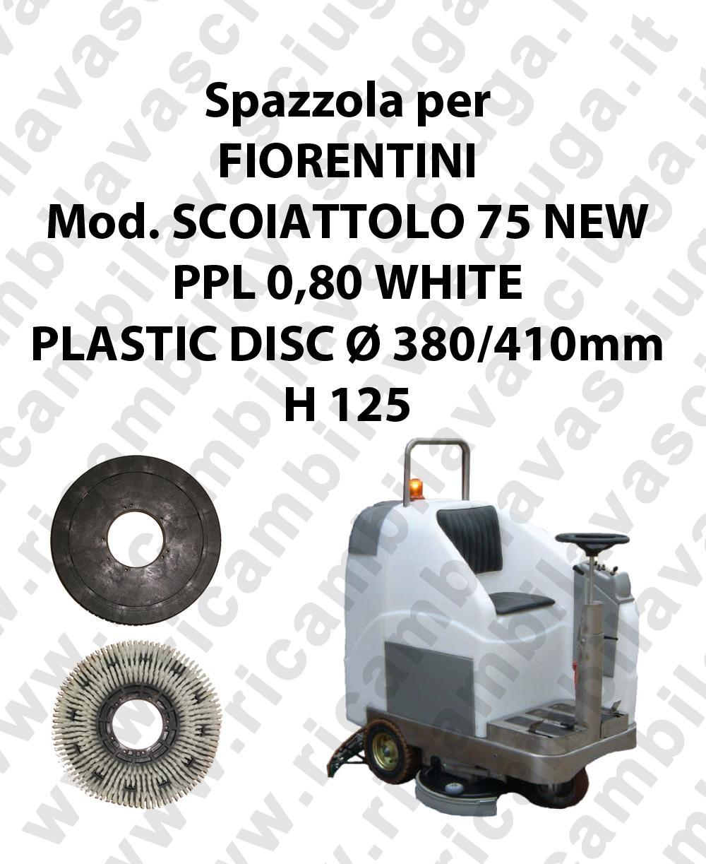 Cleaning Brush PPL 0,80 WHITE for scrubber dryer FIORENTINI Model SCOIATTOLO 75 NEW