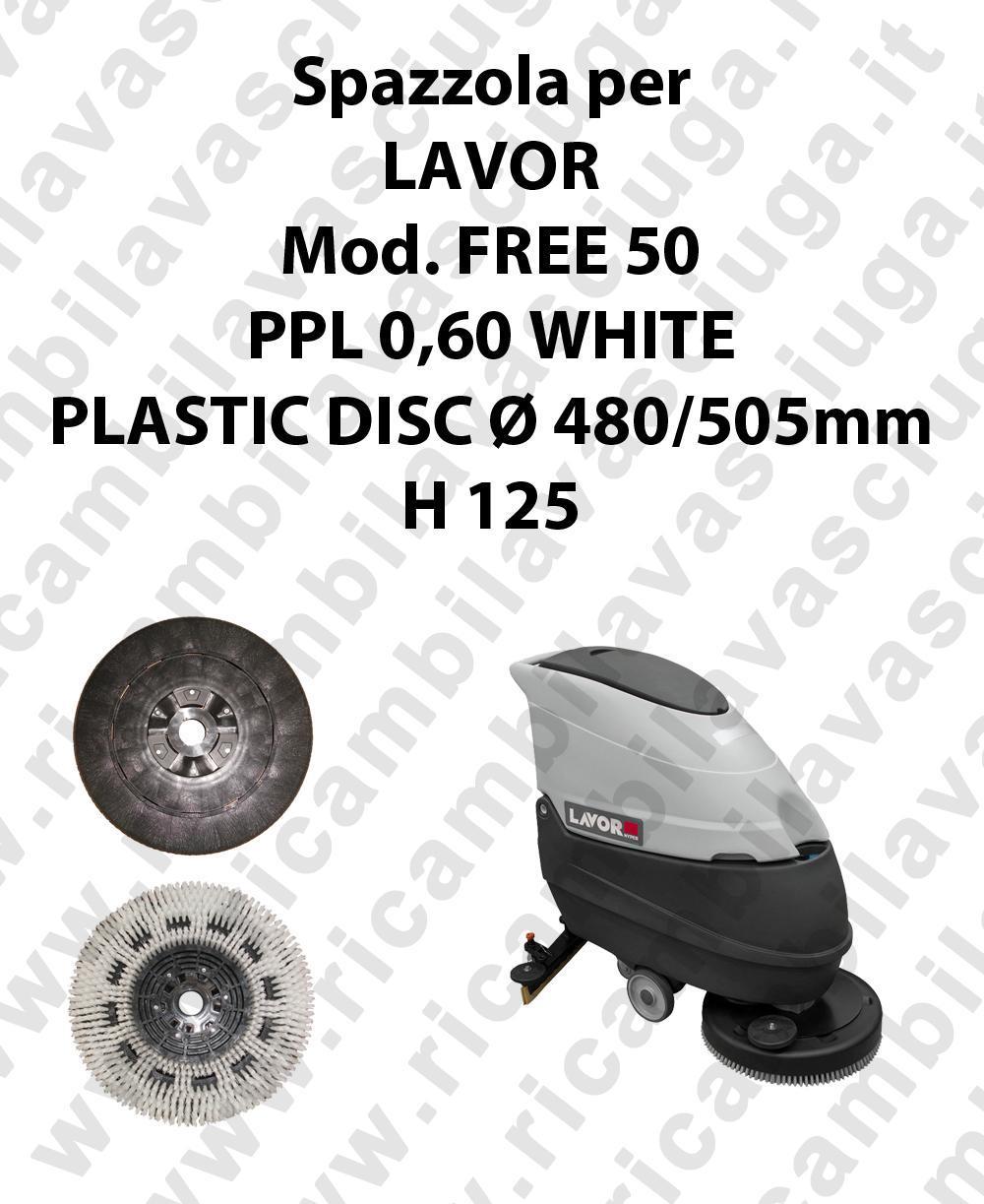 Cleaning Brush PPL 0,60 WHITE for scrubber dryer LAVOR Model FREE 50