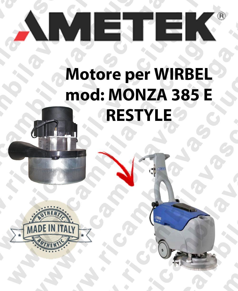 MONZA 385 E Ametek vacuum motor for scrubber dryer WIRBEL