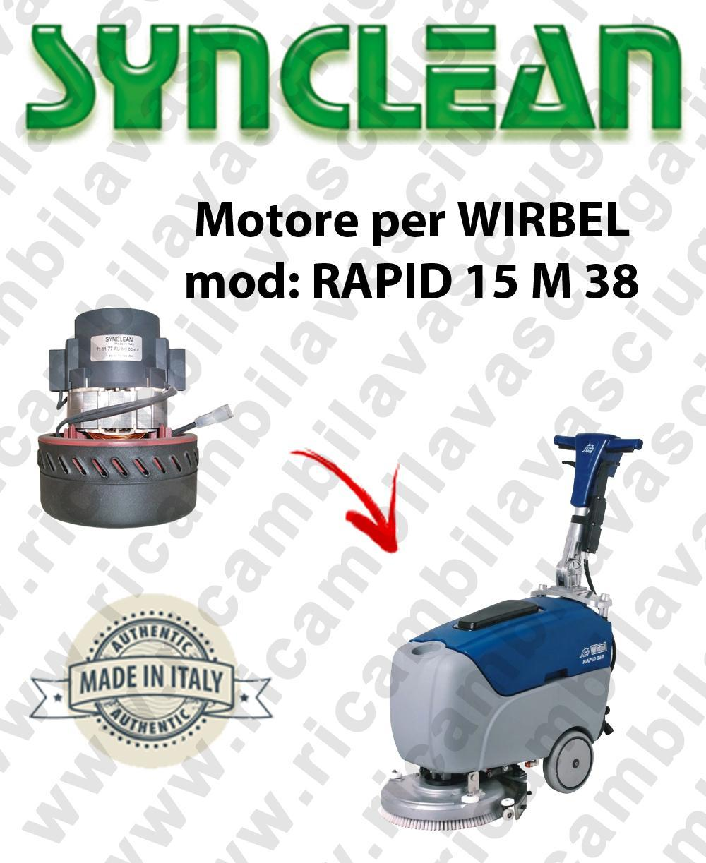 RAPID 15 M 38 Vacuum motor Synclean for scrubber dryer WIRBEL
