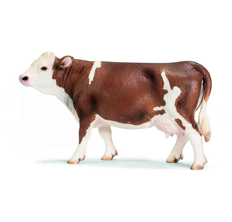 SCHLEICH FARM LIFE ANIMALI DELLA FATTORIA MUCCA PEZZATA ROSSA 13641
