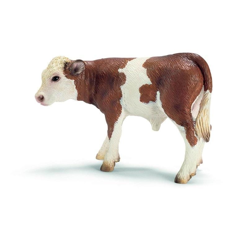 SCHLEICH FARM LIFE ANIMALI DELLA FATTORIA VITELLO PEZZATO ROSSO 13642