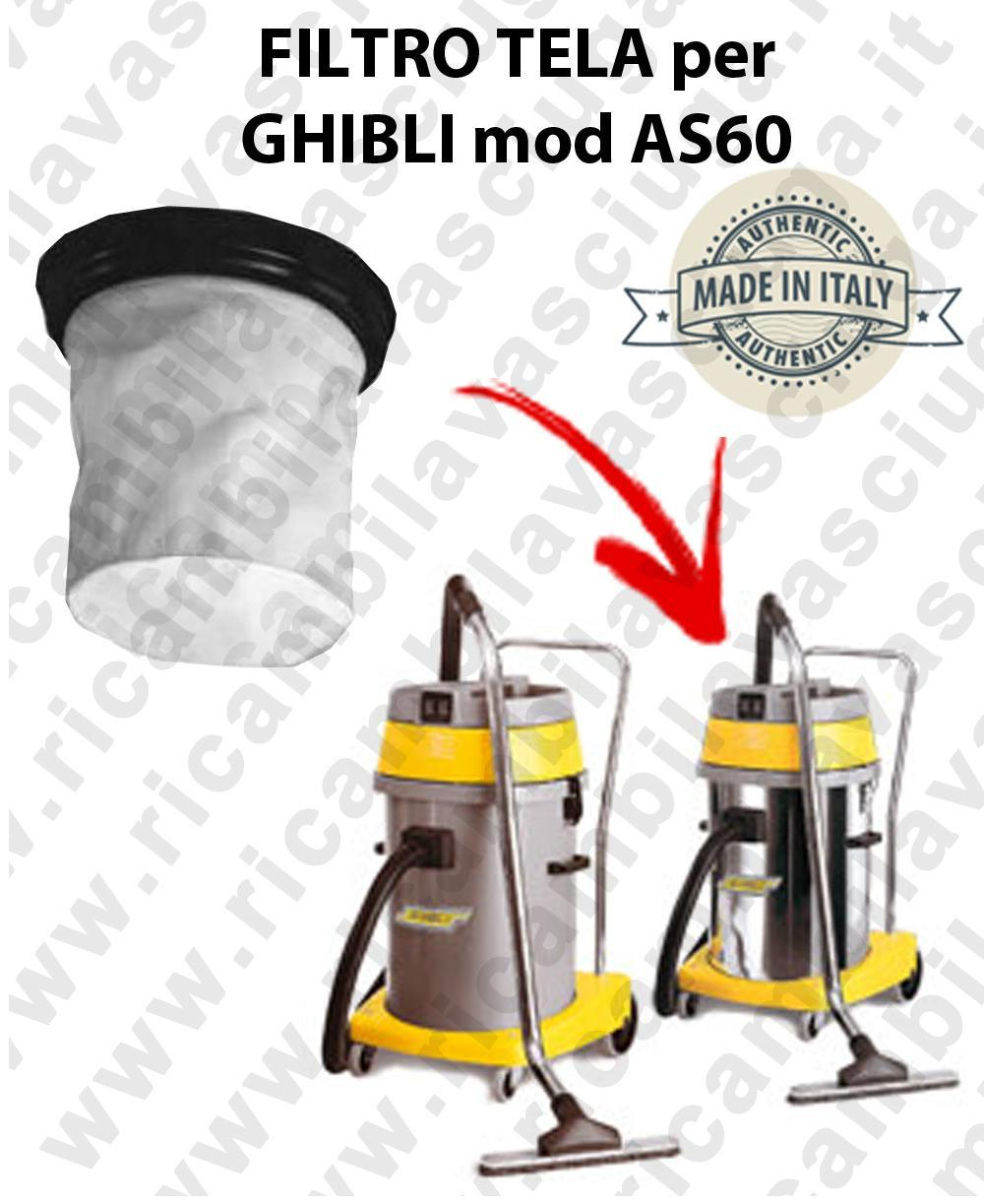 Canvas filter for vacuum cleaner GHIBLI Model AS 60