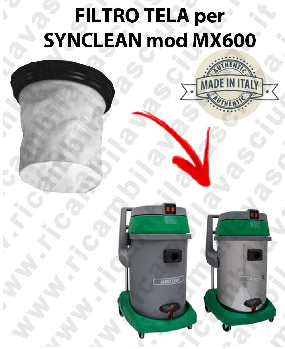Canvas filter for vacuum cleaner SYNCLEAN Model MX 600