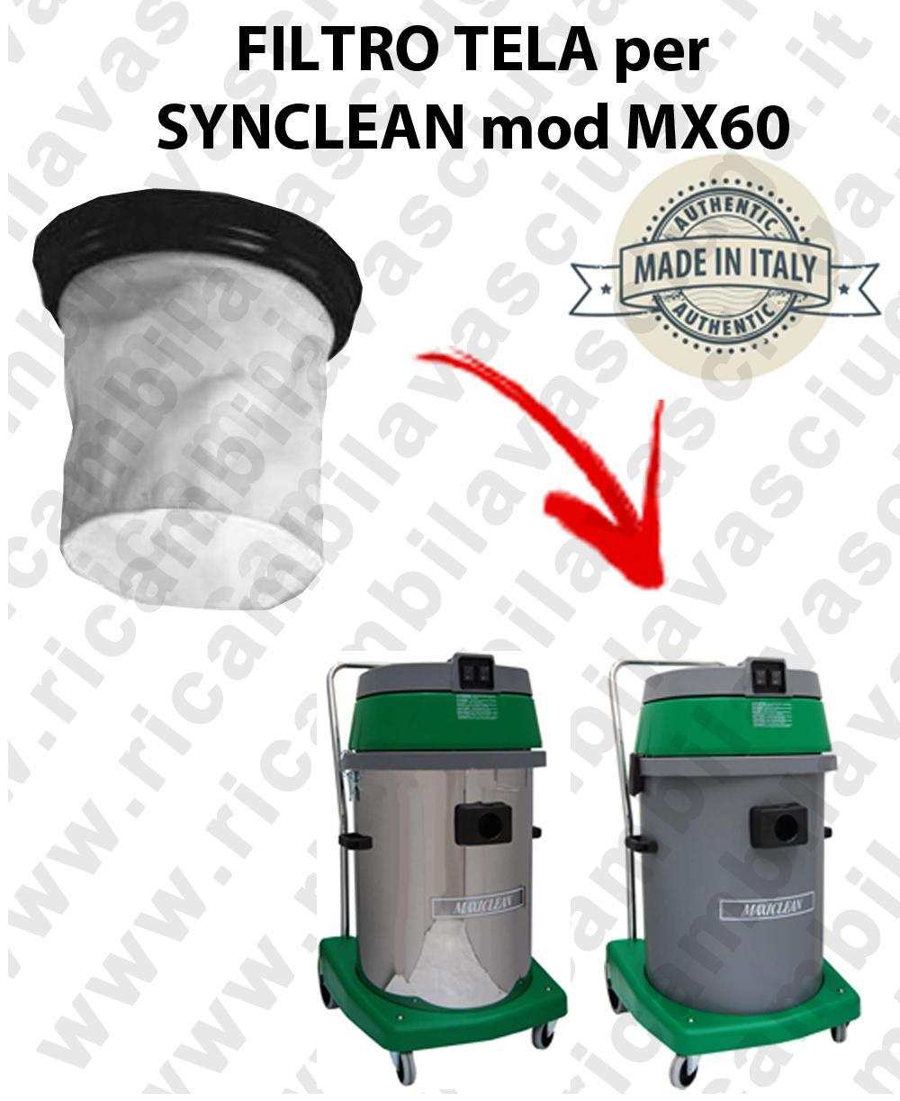 Canvas filter for vacuum cleaner SYNCLEAN Model MX 60