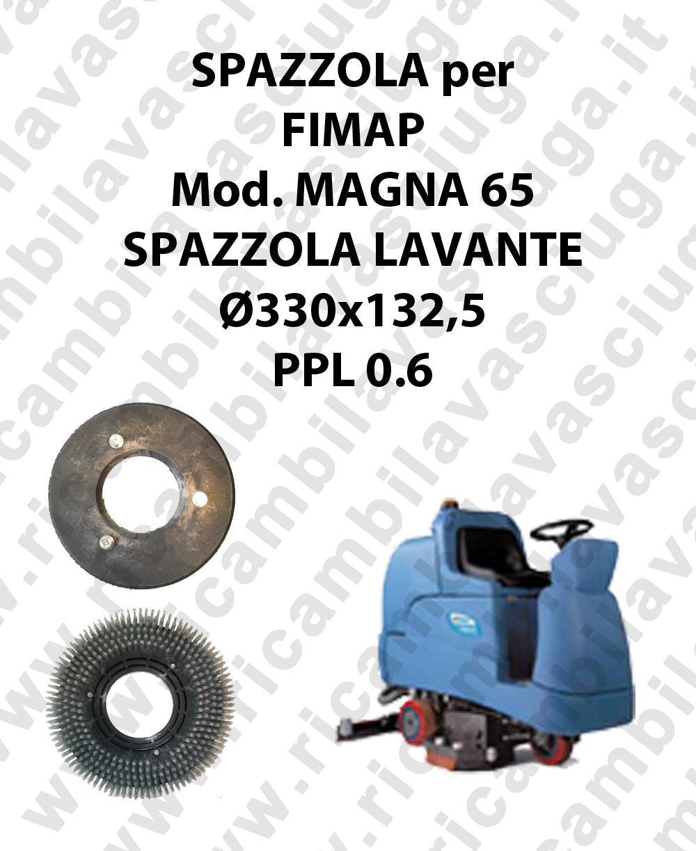 STANDARD BRUSH  for scrubber dryer FIMAP model MAGNA 65 ⌀ 330 x 132.5 PPL 0.6