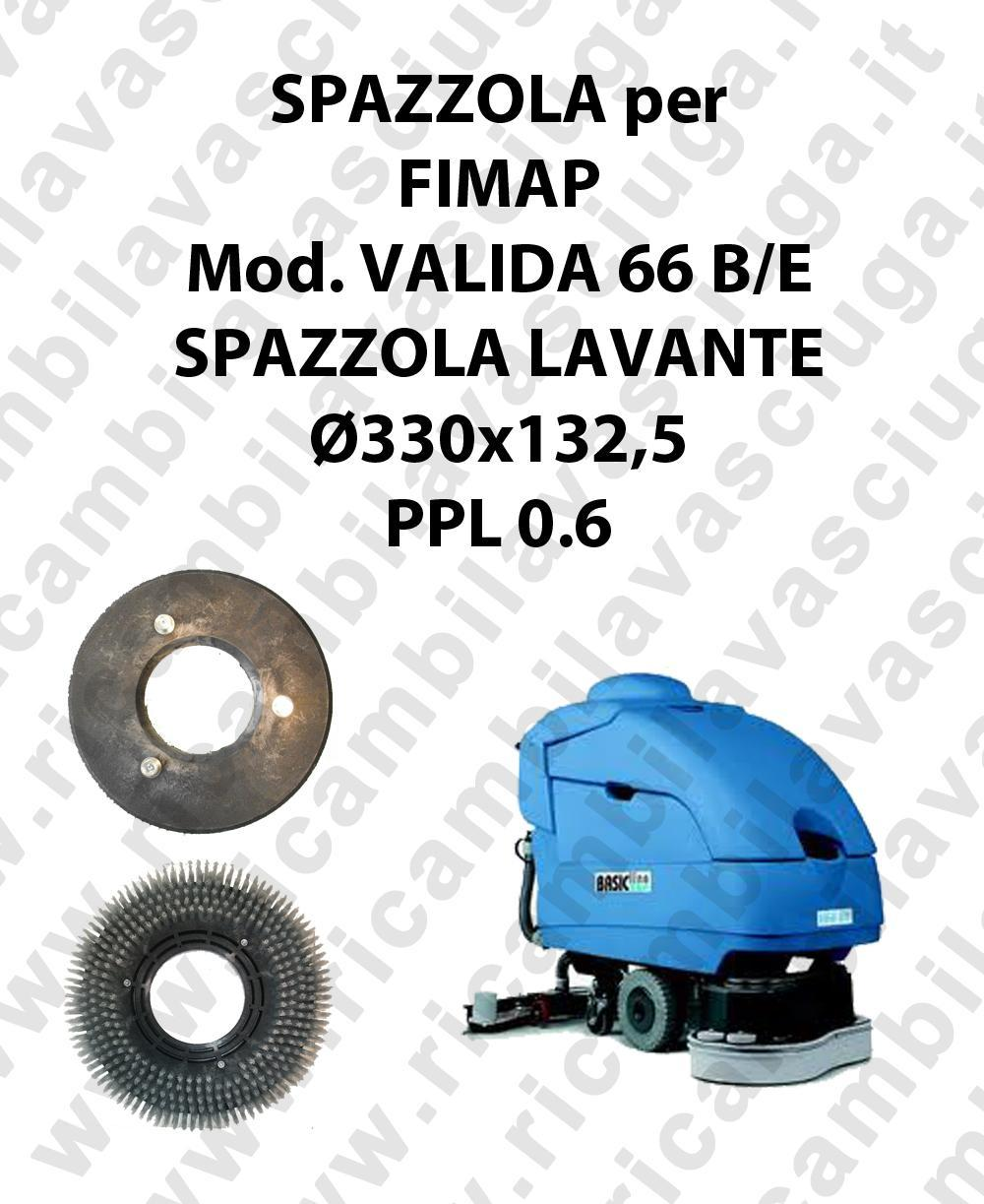 STANDARD BRUSH  for scrubber dryer FIMAP model VALIDA 66 ⌀ 330 x 132.5 PPL 0.6