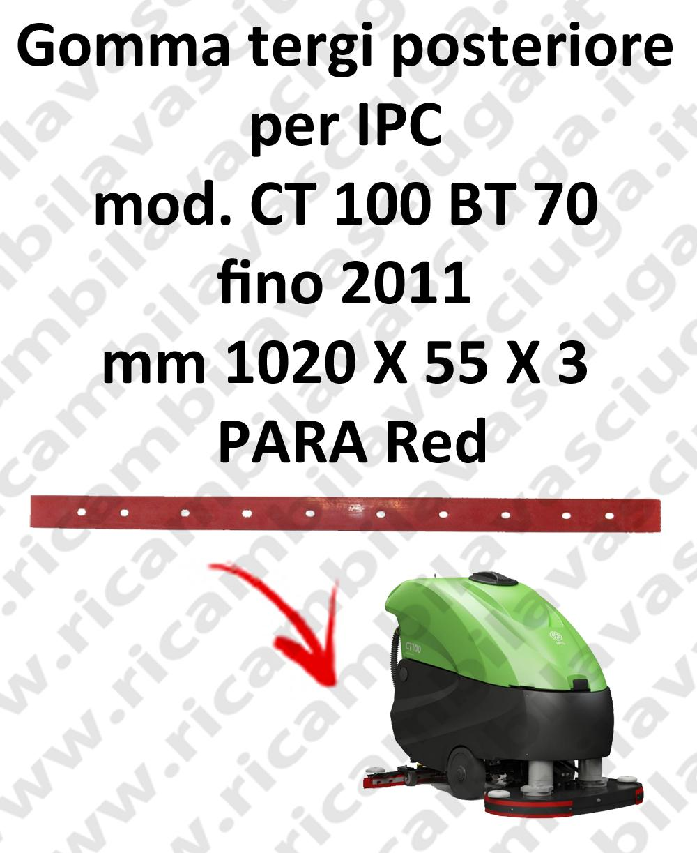 CT 100 BT 70 till 2011 squeegee rubber back for IPC