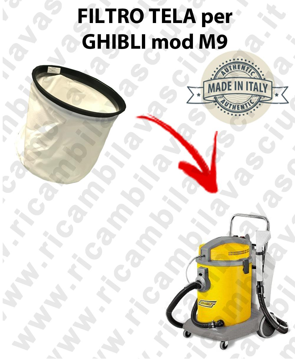 Canvas filter for vacuum cleaner GHIBLI model M9
