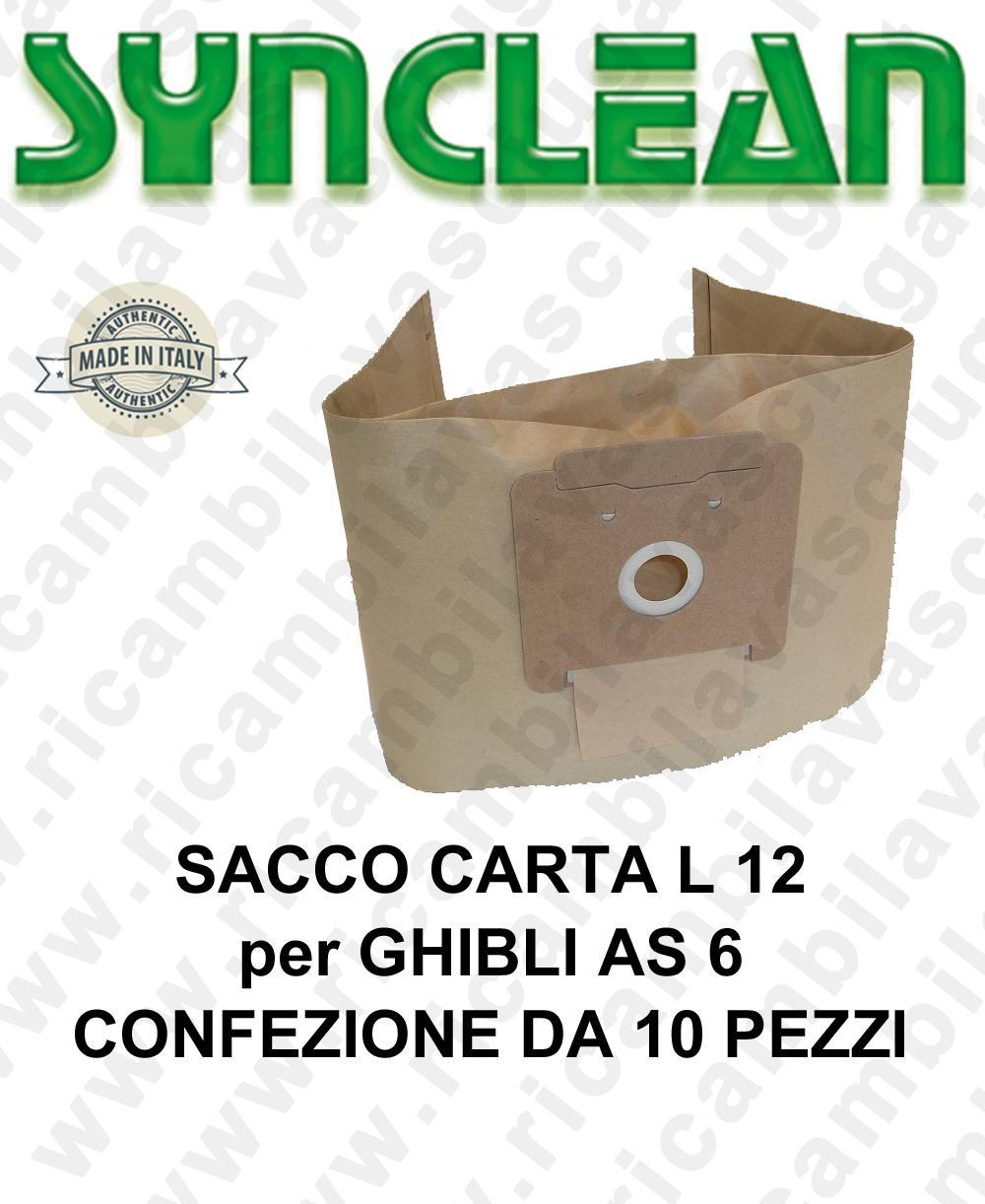 Sacco carta litres 12 for GHIBLI mod. AS 6 10 pieces for box