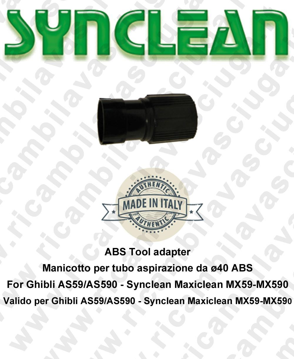 Cuff for Vacuum hose from ⌀40 ABS Valid for Ghibli AS59 - AS590 - Synclean MX59 - MX590
