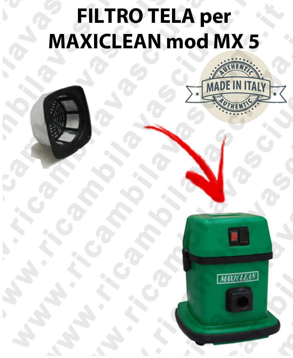 Canvas filter for vacuum cleaner MAXICLEAN model MX5 - BY SYNCLEAN