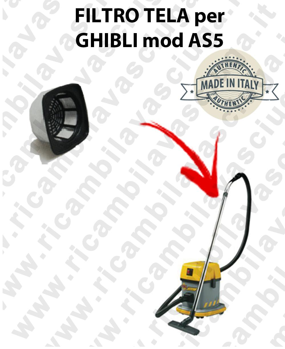Canvas filter for vacuum cleaner GHIBLI model AS5
