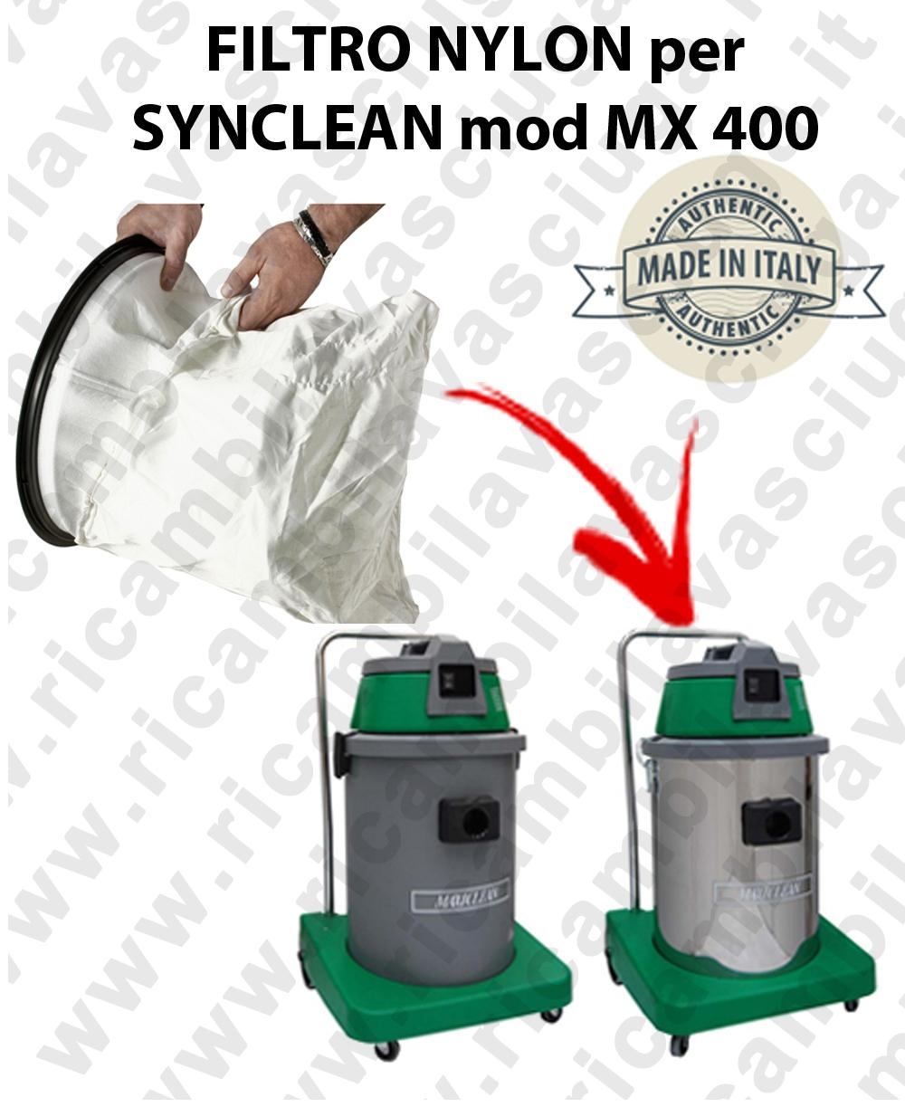NYLON filter bag cod: 3001220 for vacuum cleaner MAXICLEAN model MX400 BY SYNCLEAN