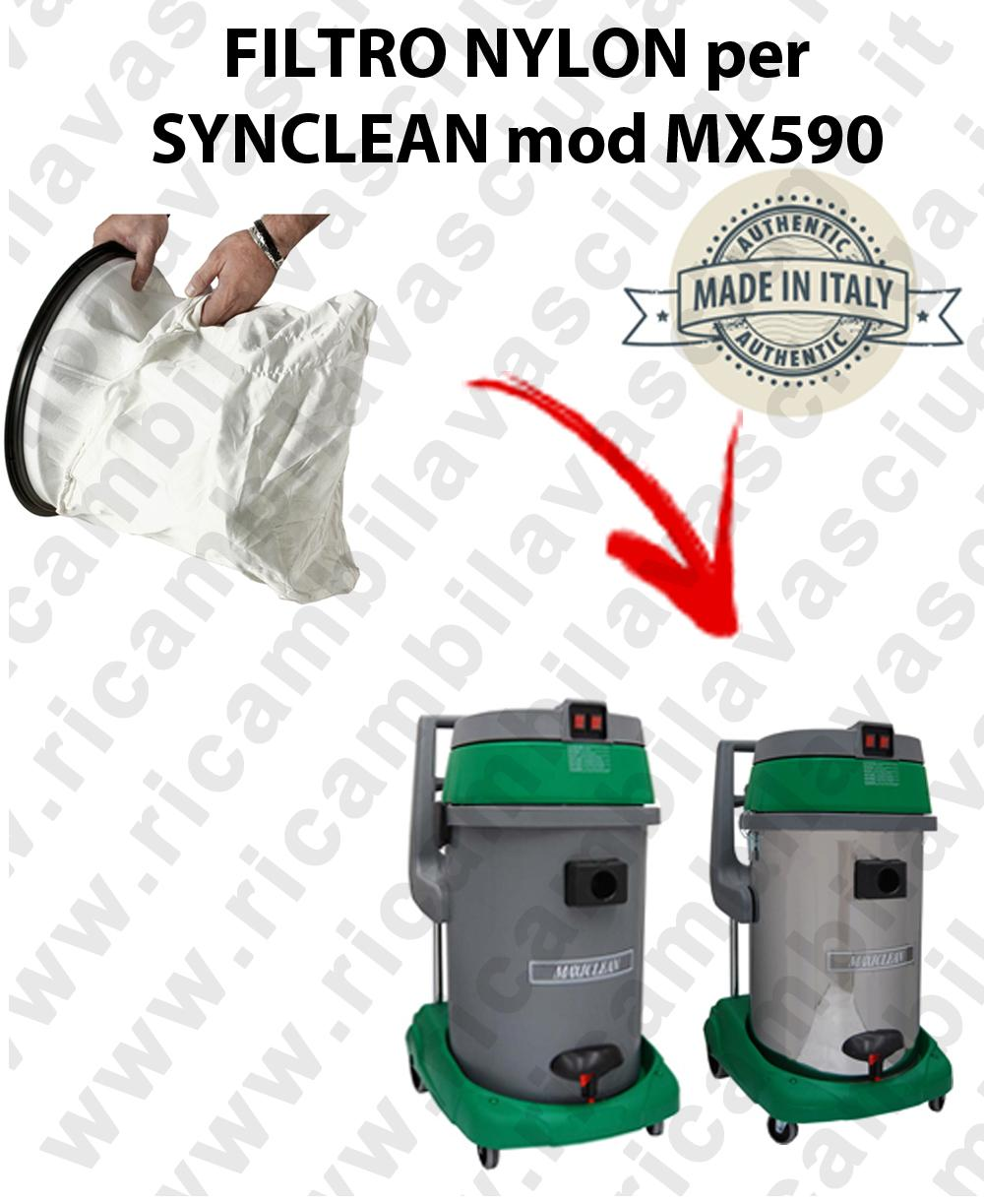 SACCO  FILTRO NYLON cod: 3001220 for vacuum cleaner MAXICLEAN model MX590 BY SYNCLEAN